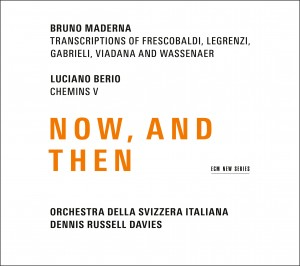 Dennis Russell Davies, the Orchestra della Svizzera italiana, and Pablo Marquez on guitar released a new recording of Bruno Maderna and Luciano Berio through ECM.
